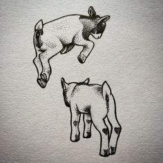 I love the style of these lil goats!  the dot and line work is so lovely.