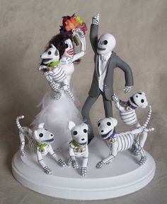 clay lindo - Day of the Dead Wedding Cake Toppers