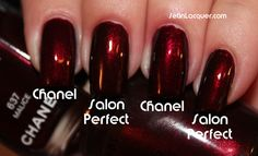 Salon Perfect Red Dahlia almost a perfect dupe for Chanel Malice
