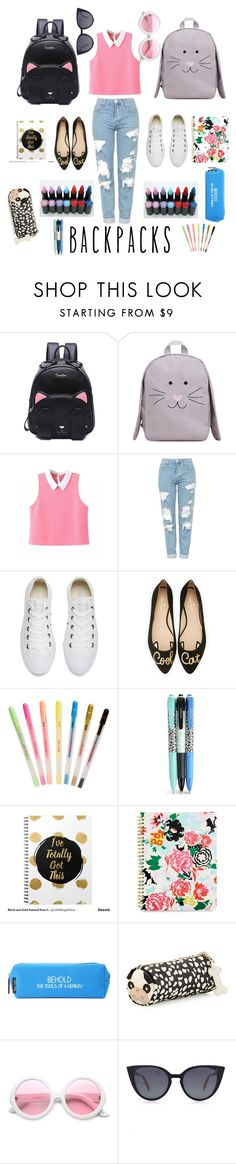 """""""School's in session"""" by jpburns ❤ liked on Polyvore featuring MANGO, Topshop, Converse, Kate Spade, Hard Candy, ban.do, Vera Bradley, Happy Jackson, Betsey Johnson and ZeroUV"""