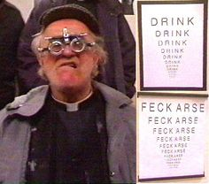 Oh Father Jack! What a funny character! Father Ted, New Fathers, Daily Funny, A Funny, Hilarious, Mrs Browns Boys, Funny Character, British Comedy, Irish Blessing