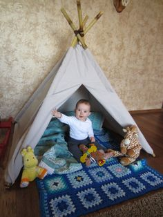 Childrens natural canvas smaller play by BlazingArrowDesigns, $75.00