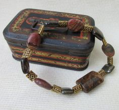 Celtic style bracelet with Jasper, Pyrite and Bronzite, £12.00  NOW SOLD