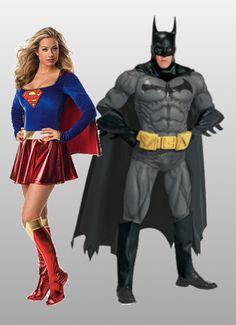 Superhero costumes from HalloweenCostumes.com