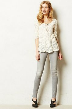 Citizens of Humanity Avedon Skinny Jeans #anthropologie  - love this outfit