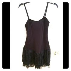Free people Black silky dress with lace detail Lace bottom super sexy and cute. Like new condition!! Free People Dresses