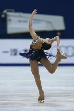 Karen Chen of United States competes in the Ladies Short Program on day two of Audi Cup of China ISU Grand Prix of Figure Skating 2015 at Beijing...