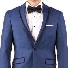 636a04e69e12 Mystic Blue Notch Lapel Tux | Generation Tux White Tuxedo, Tuxedo Suit,