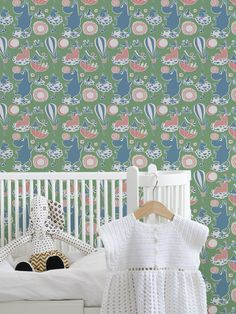 Moomin Retro Pattern   #Moomin #wallpaper #tapet #wallmural #kidsroom #ToveJansson #moomincom #photowallsweden