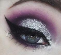 Silver&Purple Eyeshadow