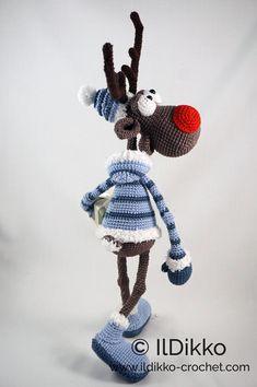 Amigurumi Pattern Rudolf the Reindeer XL English Version image 5 Crochet Patterns Amigurumi, Crochet Dolls, Crochet Yarn, Knitting Patterns, Catania, Double Crochet, Single Crochet, Natal Diy, Crochet Christmas Decorations