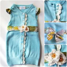 Upcycled Sweater Children's Dress! Such a great idea! might have to try one of these!