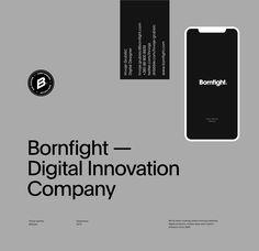 Bornfight — Digital Innovation Company on Behance Web Design, About Us Page Design, Design Innovation, Modern Website, Education Humor, Jobs Apps, Graphic Design Branding, Logo Design, Digital Media