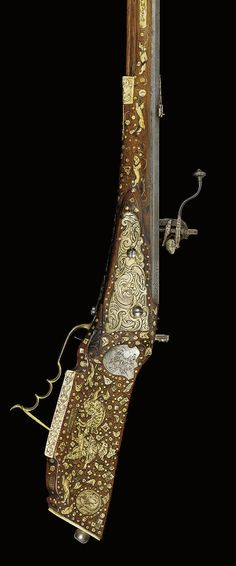A STYRIAN COMPOSITE WHEEL-LOCK SPORTING RIFLE   LATE 17TH /EARLY 18TH CENTURY