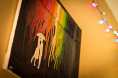 Creative Melted Crayon Art; DIY Artwork: Melted Crayon Art Canvas ~ emsorter.com Office Designs Inspiration