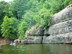 Dripping Springs, Grand Lake, Grove, Oklahoma.  Great childhood memories climbing these cliffs and jumping off!