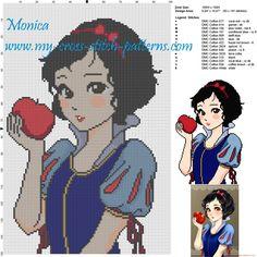 Princess Snow White cross stitch pattern