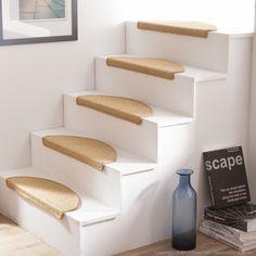 Tapis d escalier en sisal demi lune Lot de 5 ESSENTIAL Sisal, Decoration, New Homes, Table, Furniture, Home Decor, Ibiza, Count, Ideas