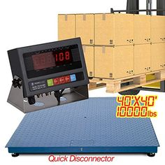 "New 10000 Lb X 1 Lb 4 X 4 Floor Scale / Pallet Scale with Indicator   New 10000 Lb X 1 Lb 4 X 4 Floor Scale / Pallet Scale with Indicator Brand New Industrial Grade Floor Scale! It weighs up to 10000 lbs with accuracy of 1lbs. It comes to you calibrated and ready to use right out of the box! It is a great floor scale / pallet scale / shipping scale at affordable price.   Don't be confused by the ""low"" price, this scale is built to the highest quality and is as good or better than oth.."