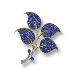 Sapphire and Diamond Brooch, Van Cleef & Arpels