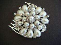 SECONDS Elegant Wedding Rhinestone Hair Comb / by misunbridal, $19.00