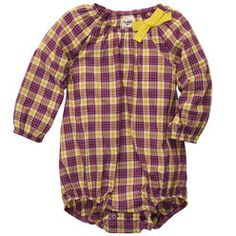 Long-Sleeve Plaid Bodysuit.