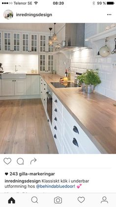 Counters match the floors! I need this kitchen! Kitchen Island, Kitchen Cabinets, Have A Great Monday, The 'burbs, Country Chic, My Dream Home, Flooring, Inspiration, Design