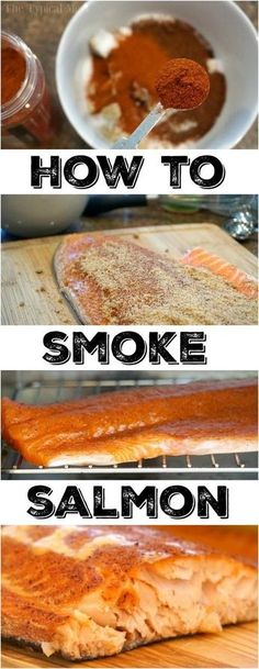 How to smoke salmon in your smoker right at home! The best rub for fish you will ever make that brings out the flavor and makes it melt in your mouth good. Easy recipe for those who have never smoked fish or looking for something new. Healthy and delicious dinner idea. #salmon #fish #smoke #smoker #smokedsalmon #thetypicalmom #smokedfish Best Smoked Salmon, Smoked Salmon Recipes, Smoked Fish, Smoked Trout, Traeger Recipes, Grilling Recipes, Fish Recipes, Seafood Recipes, Rub Recipes