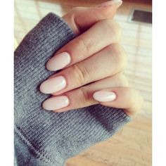 Rounded Nails ❤ liked on Polyvore featuring beauty products and nail care