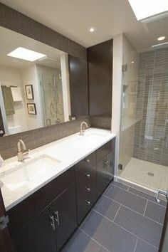 How to design a luxury bathroom with black cabinets   Master bath     Capitol Hill Condo Bathroom Remodel   modern   bathroom   seattle   by  Motionspace Architecture   Design