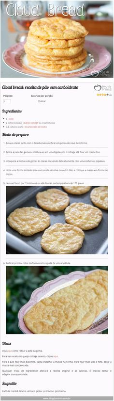 Discover recipes, home ideas, style inspiration and other ideas to try. No Salt Recipes, Low Carb Recipes, Diet Recipes, Cooking Recipes, Healthy Recipes, Cloud Bread, Healthy Snacks, Healthy Eating, Quick Snacks
