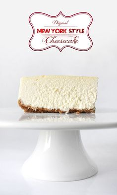 Classic New York Style Cheesecake, it couldn& be better! The best cheesecake . - Classic New York Style Cheesecake, it couldn& be better! The best cheesecake! New York Style Cheesecake, Best Cheesecake, Cheesecake Recipes, Dessert Recipes, American Cheesecake, Dinner Recipes, 10 Inch Cheesecake Recipe, Original Cheesecake Recipe, Dessert Blog