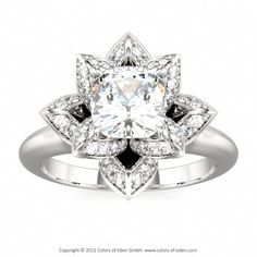 Lotus Ring, Colors of Eden #diamond #engagement #ring