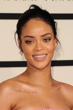 Rihanna at the 2015 Grammy Awards. http://beautyeditor.ca/2015/02/10/grammys-2015