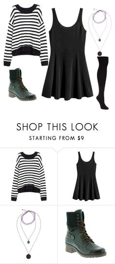 """Polyvore Finds"" by eleven-and-her-eggos ❤ liked on Polyvore featuring H&M, Hot Topic, taos Footwear and HUE"