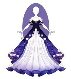 Dress Design Drawing, Dress Design Sketches, Dress Drawing, Fashion Design Drawings, Manga Clothes, Drawing Anime Clothes, Old Fashion Dresses, Anime Girl Dress, Fantasy Dress