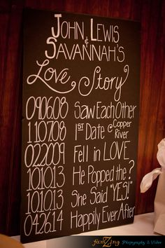 Romance timeline as wedding sign | by FamZing Photography & Video