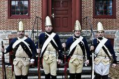 Re-enactors in the Battle of Trenton during Patriots' Week 2012.