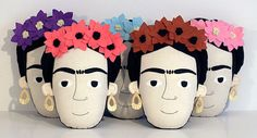 Frida Kahlo pillow face Light Pink by pollaz on Etsy