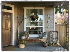 Little Brags: A Spring Porch and a Blog Hop