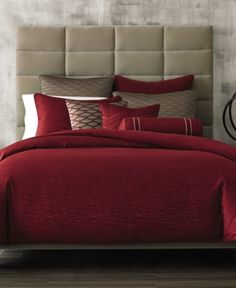 Hotel Collection Woven Texture Red King Duvet Cover, Only at Macy's - Red