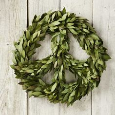 Bay Laurel served as a symbol of peace and protection for the ancient Greeks, so i was inspired to create my own exclusive fresh seasonal wreath from this bracing herb. Green Gifts, Holiday Wreaths, Christmas Decorations, Holiday Decor, Holiday Ideas, Holiday Crafts, Chandeliers, Hippie Peace, Autumn Nature