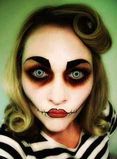 Rockabilly zombie. | 33 Totally Creepy Makeup Looks To Try This Halloween