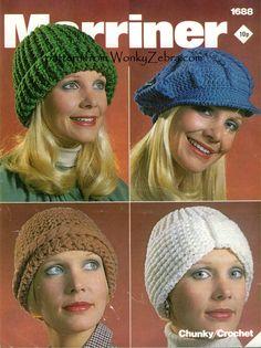 WZ155 crochet hats pattern; from Marriner pattern 1688