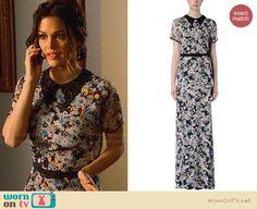 Zoe's floral maxi dress with collar on Hart of Dixie.  Outfit Details: https://wornontv.net/32669/ #HartofDixie