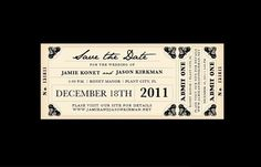 Vintage Antique Train Ticket Wedding Save the Date by jamiekonet Rustic Save The Dates, Wedding Save The Dates, Save The Date Cards, Wedding Stationary, Wedding Invitations, Diy Wedding, Wedding Ideas, Perfect Wedding, Wedding Cards