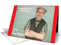 25 best festivus for the rest of us images on pinterest rest nutty professor festivus card humor greeting card universe by hipster doofus m4hsunfo