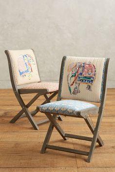 elephant applique terra folding chair #anthrofave