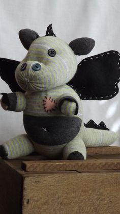 Draco Handstitched sock monkey. Stands approx 8 by ChikiMonkeys, $25.00