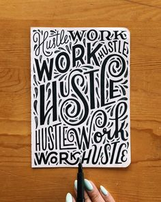 Having trouble getting started with your own lettering project? Find the inspiration you need from these 25 amazing & creative hand lettering designs. Calligraphy Quotes Doodles, Calligraphy Artist, Hand Lettering Quotes, Script Lettering, Lettering Styles, Lettering Design, Lettering Ideas, Lauren Hom, Schrift Design